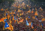 Catalans proudly wave their own flag, not that of Spain. -- Getty Images photo by David Ramos