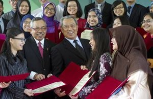 """I'm extremely proud of you (students). I hope you can continue to excel in the years ahead. As for the parents, this is an investment that is hoped to produce good results for the country,"" Muhyiddin said."