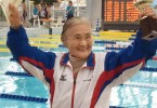 Mieko Nagaoka took just under one hour and 16 minutes to swim 1,500 metres. - AFP pic