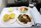 One of the business class meals previously available on a Malaysia Airlines flight.