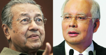 Will the relentless offensive by Mahathir (right) against Najib damage the ruling Barisan Nasional at the federal level?