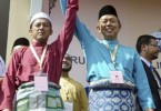 PAS candidate Nazri Ahmad (left) and BN candidate Datuk Hasan Arifin