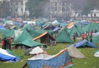 A tent camp like this one is the safest place for survivors of Saturday's earthquake in Nepal. -- AFP photo