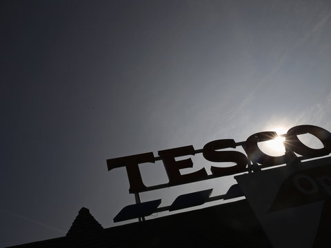 Dark times for Tesco as the British retailer took a hit on the value of its property.
