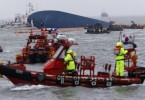 """Rescue ships take part in a rescue operation around South Korean passenger ship """"Sewol"""" which sank in the sea off Jindo April 17, 2014. Reuterspic"""