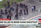 Nine bikers were killed and at least 18 others injured, most from gunshots and stabbings.