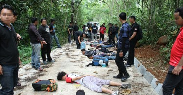 Some of the suspects who were caught in Hulu Langat in late April while on the way to a training stint on a hill.