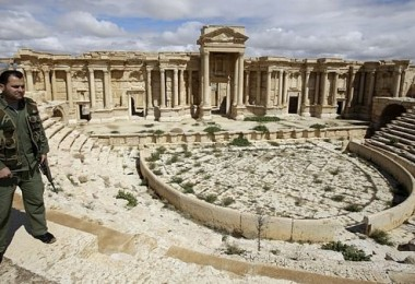 Part of the ancient ruins in Palmyra, a city dating back 2,000 years.