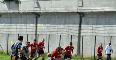 La Drola (in red) in a match against RC Biella.