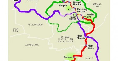 This is the proposed alignment for the MRT 2 line.