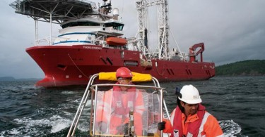One of the ships involved in the search in the southern Indian Ocean.