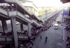 The queue at a Manila MRT station can be this long.
