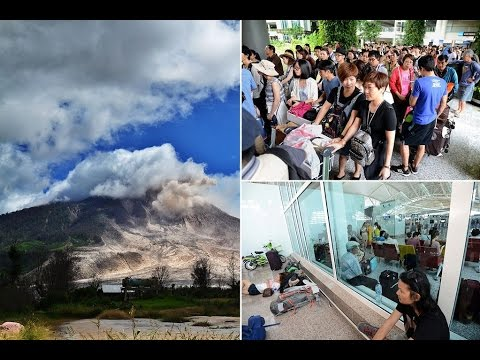 The eruptions at Mount Raun forced five airports in eastern Indonesia to close late last week, stranding thousands of travellers..