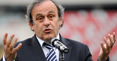 Former France captain Platini now heads UEFA.