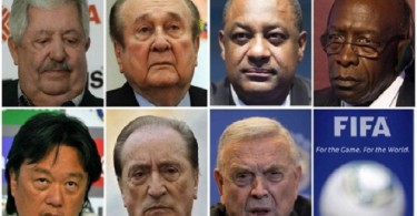 Some of the FIFA officials implicated.