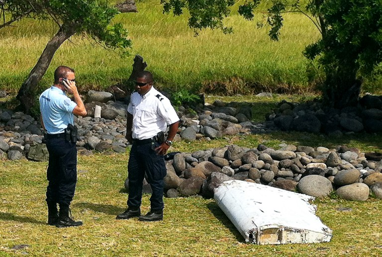 This flaperon washed ashore on La Reunion is believed to be from a Boieng 777 and thus possibly from MH370.
