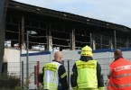 The gym that was meant to be a refugee centre is believed to have been set on fire.