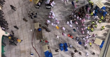 Scene of the carnage inside Mecca's Grand Mosque. -- AFP photo
