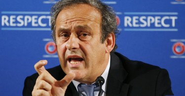 Former France captain Michel Platini is one of four banned.