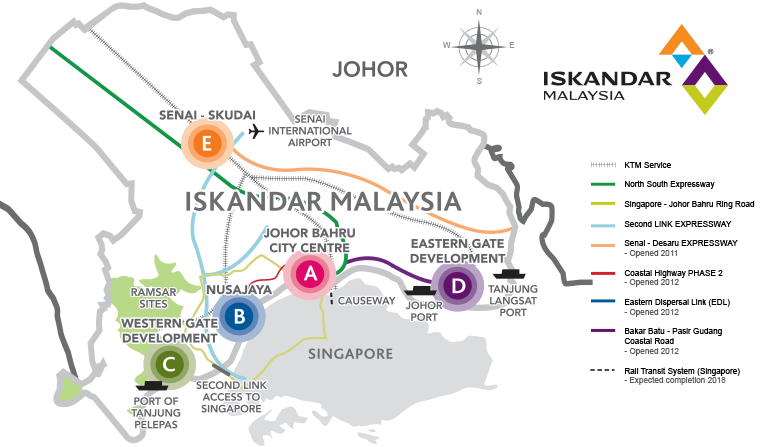 The most investments in Iskandar Malaysia until last September came from Singapore and China.