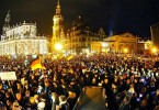 The PEGIDA movement started about a year ago in the city of Dresden.