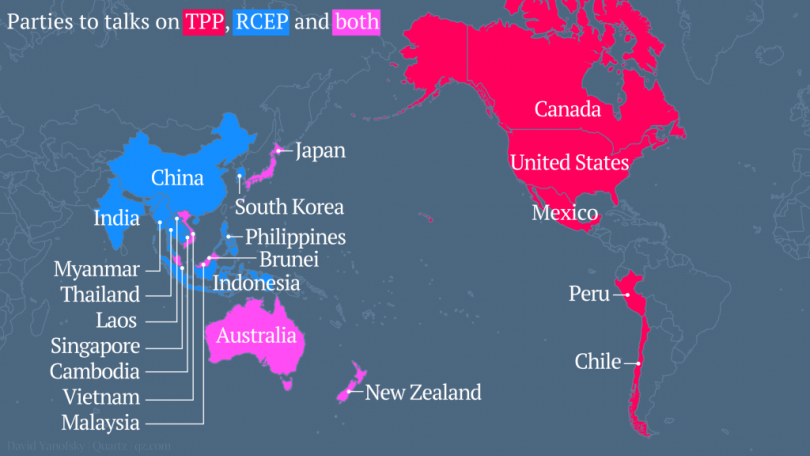 China Backed Trade Pact Playing Catch Up After Us Led Tpp Deal The
