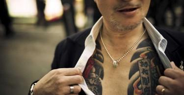 The tattoo that typifies Yakuza membership.