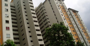 The monthly rental at these public housing flats is only RM124 a month.