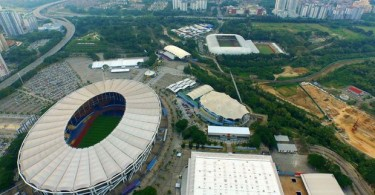 The National Sports Complex in Bukit Jalil that was built for the Commonwealth Games in 1998.