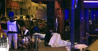 One of the restaurants that was targetted during the recent multiple terrorist attacks in Paris.