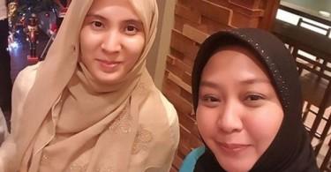 Nurul at her Manila meeting with Kiram (right).