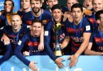 Barcelona celebrate yet another World Club title. -- AFP photo