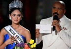 The real Miss Universe 2015 and Steve Harvey (right), the comedian and master of ceremony who announced the wrong winner before a global live audience.