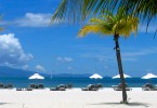 A beach on Langkawi island, with its pure, white sand. Simply breathtaking.