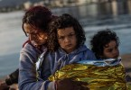 This migrant mother and her children have survived crossing the Mediterranean but many others have perished in the rough seas.