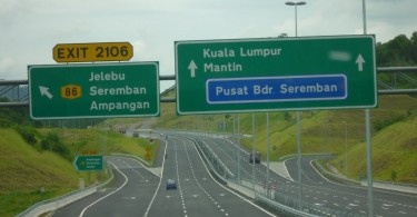 The Kajang-Seremban Highway has six toll plazas.