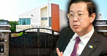 Lim and his bungalow.