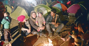No way through for these Syrian refugees forced to stay in a camp in Greece near the border with Macedonia, which decided not allow anymore refugees to enter the country.