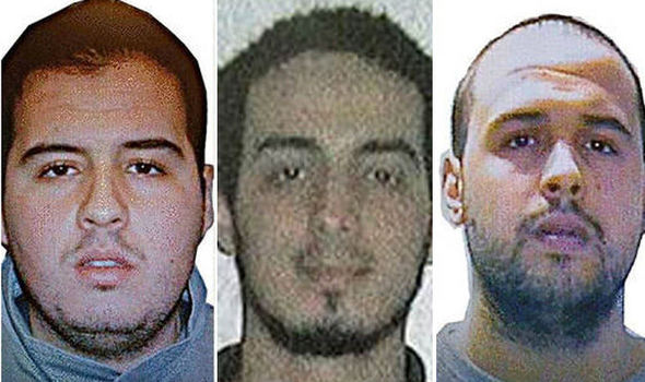 The men suspected of being responsible for the three bomb blasts in Brussels -- two brothers and a bomb-maker.