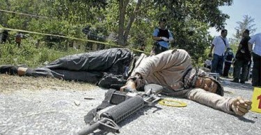 One of the Sulu terrorists killed during their attack on Lahad Datu in March 2013.