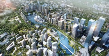 An artist's impression of what Bandar Malaysia would look like. The development will take place at the Sungai Besi air force base.