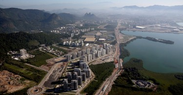 The athletes' village for the Rio Olympics pictured last February when there was still construction work taking place.