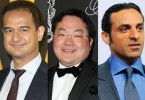 Amongst those named in the lawsuits (from left) -- Riza Aziz, stepson of Najib; Jho Low, a Malaysian businessman; and Khadem al Qubaisi, a former Abu Dhabi head of a sovereign wealth fund.