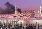 The blast that took place in Medina close to the Nabawi Mosque.