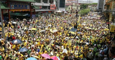 Part of the Bersih 3 rally in 2012.