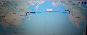 Journey from Seattle, USA to Vladivostok, Russia by airplane.