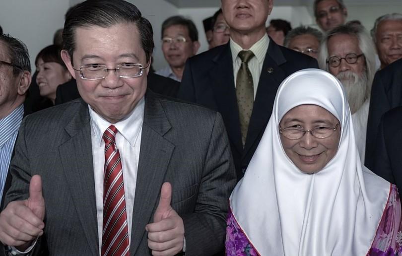 Lim Guan Eng and DS Wan Azizah