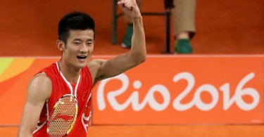 It's gold for Chen Long in Rio after his bronze in London four years ago.