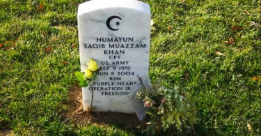 The grave of US Army Captain Humayun Khan