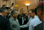 First face-to-face contact between Mahathir and Anwar in 18 years.